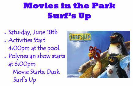 Surf's Up! Movie in the park