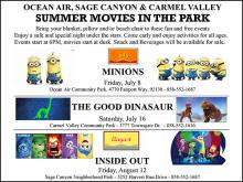 Summer Movies in Carmel Valley, San Diego